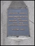 Image for Pametní deska Janu Matlachovi - Brno, Czech Republic