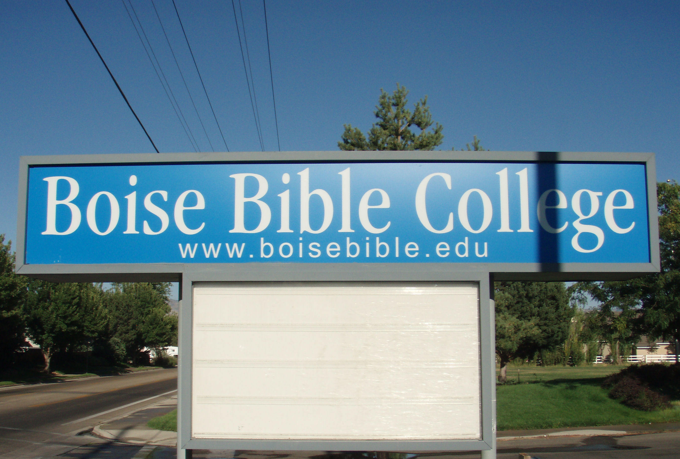 Boise Bible College Garden City Id Sign Close Up