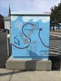 Image for Anchor and Waves decorated utility box - Pawtucket, Rhode Island