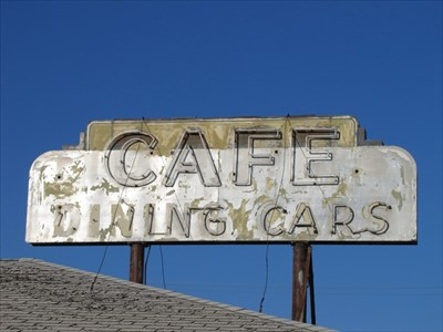 Cafe Dining Cars Sign, Mullen