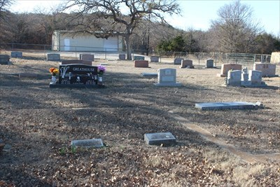 Jesse is second from right, and his parents are in the background at right (red granite headstone).