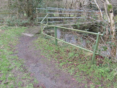 Hiking Trail Bridge, Fforest, Carmarthenshire, Wales