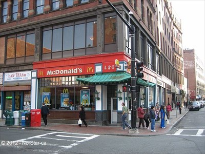 Mcdonald S Chinatown Boston Ma Mcdonald S Restaurants On Waymarking Com