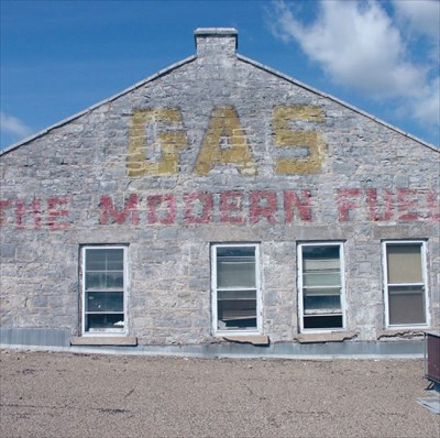 GAS THE MODERN FUEL - Kingston, Ontario - Ghost Signs on