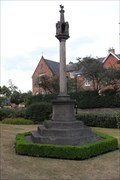 Image for Memorial Cross at the New Big School, Little Church Street, Rugby, Warwickshire.