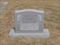 Image for 100 - Mattie Lanham - Joy Cemetery - Joy, TX