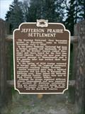 Image for Jefferson Prairie Settlement Historical Marker