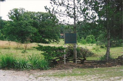 as it looked in 2006, Kingdom of Callaway Historical Society marker in place, but site restricted by Department of the Interior.