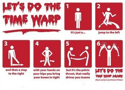 time warp dance instructions