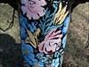 Borne fontaine à motif de fleurs original