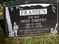 Image for Owen Timothy Fransen, Crofton, BC