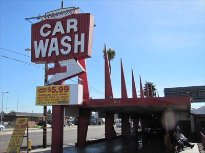 Lennox Car Wash Entrance, Inglewood, CA