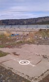 View of bench mark looking NE towards US Hwy 97 bridge