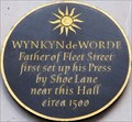Image for Wynkyn de Worde - Stationers' Hall Court, Ludgate Hill, London, UK
