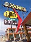 Image for Glancy Motor Hotel - Route 66  Neon - Clinton, Oklahoma, USA.