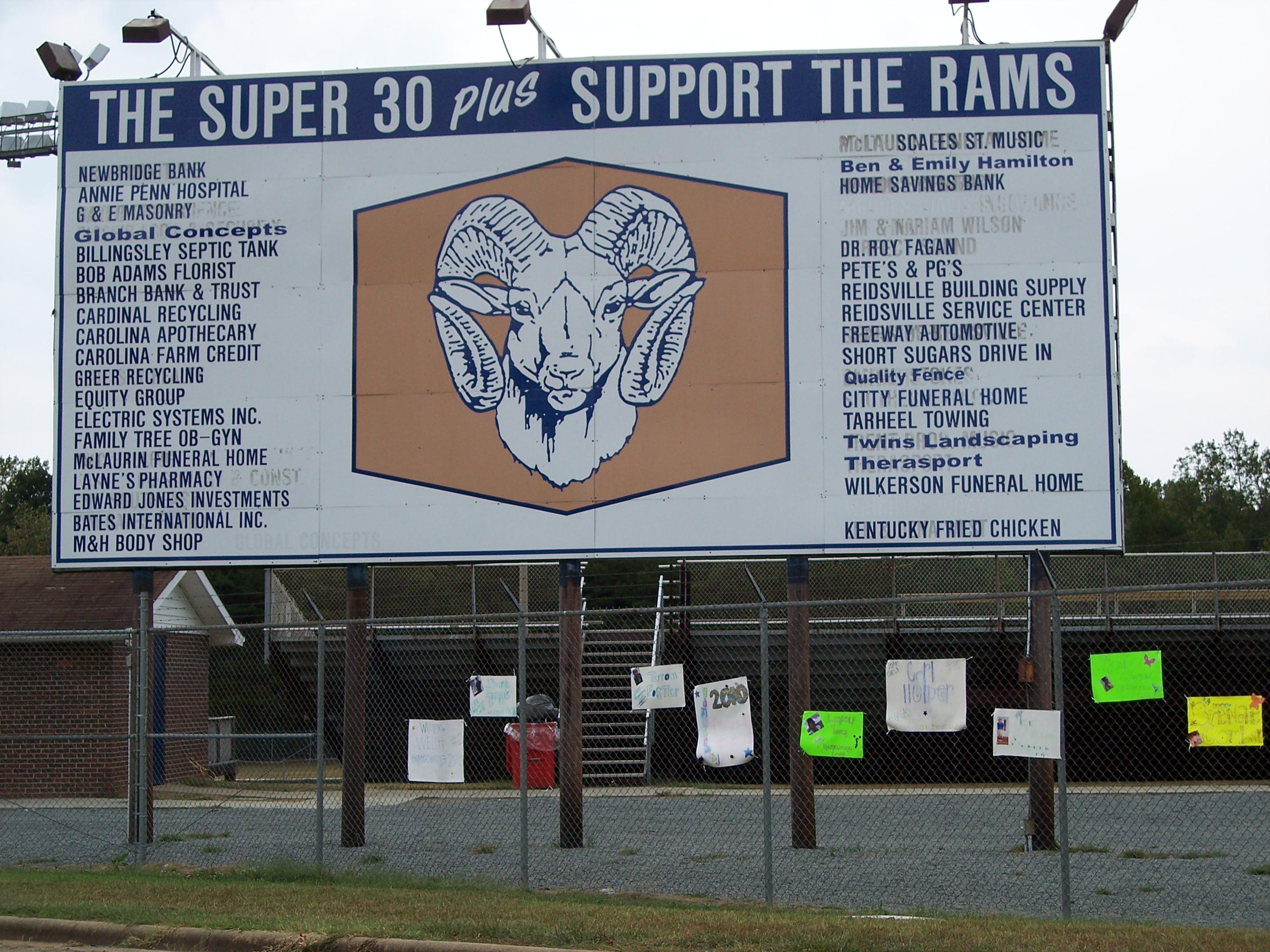 Reidsville High School Football Field - Reidsville, NC Image