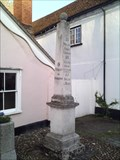 Image for Elaborate Milestone/Obelisk, High Street, Nayland, Suffolk.