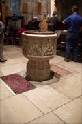 Image for A C19th Stone Font in the Church of All Saints, Maldon, Essex