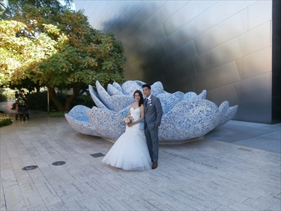 Frank Gehry's mosaic rose fountain for Lillian Disney - Los Angeles, CA