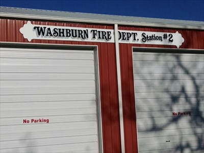Washburn Fire Dept. Station #2, by MountainWoods.  Much better than the original signage!
