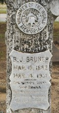 Image for B J Bruner - Liberty Cemetery - Pansey, AL