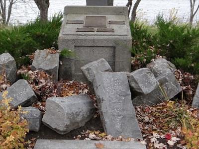 base of memorial