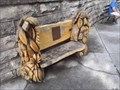 Image for Basin Park Sycamore Carved Bench - Eureka Springs AR