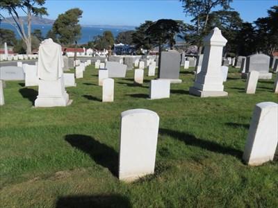 William Allen, Backside, Setting, San Francisco National Cemetery