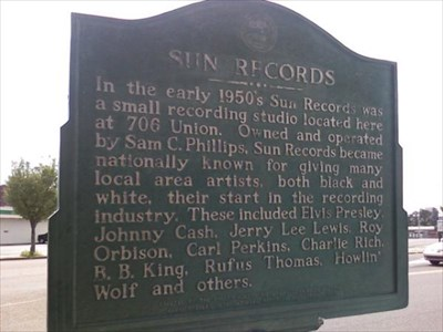 Marker - Sun Records - Tennessee Historical Markers on Waymarking com