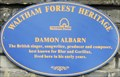 Image for Damon Albarn Plaque - Fillebrook Road, London, UK