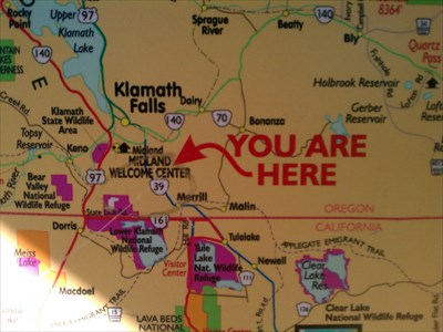 You Are Here Volcanic Legacy Scenic Byway Midland Rest Area