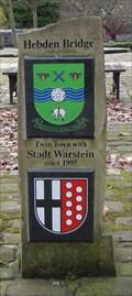 Image for Hebden Bridge Marina Stadt Walstein Twinning Marker – Hebden Bridge, UK