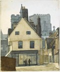 "Image for ""Gables & French Row 1901"" by EA Phipson –Market Place, St Albans, Herts, UK"
