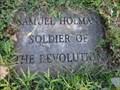 Image for Samuel Holman - Soldier, Revolutionary War - Springville, NY