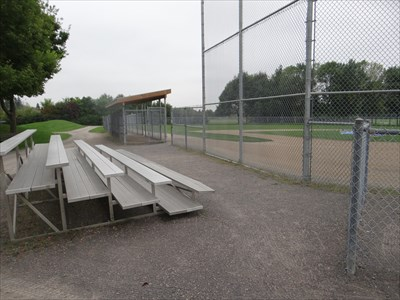 bleachers and dugout