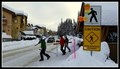 Image for Skiier and Snowboarder Crossing — Sun Peaks, BC