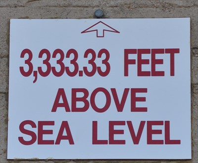 Elevation Feet Above Sea Level Elevation Signs On - Elevation in feet above sea level