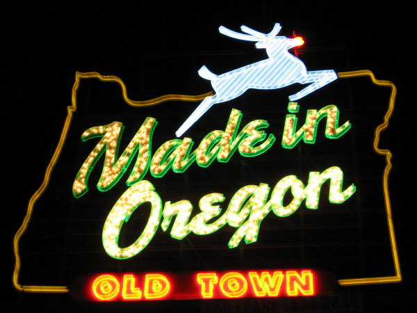 White Stag Sign Old Town Portland Oregon Nrhp