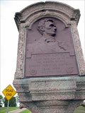 Image for Abraham Lincoln - Eighth Judicial District Champaign/Piatt County Line Marker — Mahomet, IL
