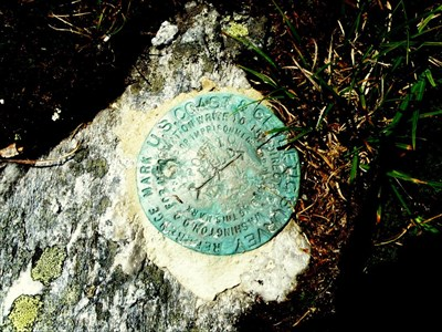 "USCGS survey marker at the top. What does the ""Potato Hill"" thing mean?"