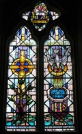 Image for Holy Baptism - Stained Glass - Cheriton, Gower, Wales.