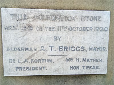Close up of the Foundation Stone tablet.1552, Thursday, 27 December, 2018