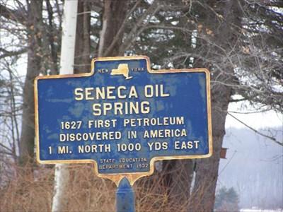 Seneca Oil Spring - Cuba, New York - New York Historical Markersoil springs reservation
