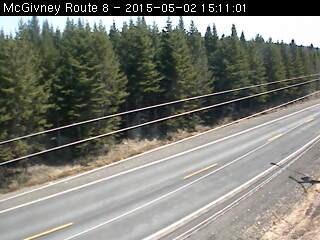route 8 highway webcam mcgivney, nb web cameras on
