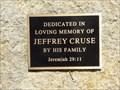 Image for Jeffrey Cruse - Fulshear Cemetery, Fulshear, TX