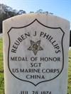 Reuben Jasper Phillips (close-up), San Francisco National Cemetery