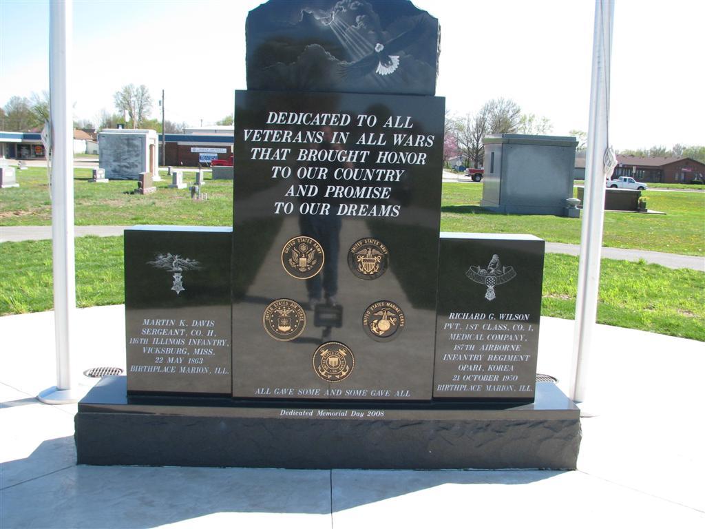 Rosehill Cemetery Veteran Memorial Marion Illinois