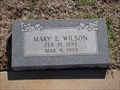 Image for 100 - Mary E. Wilson  - Summit View Cemetery - Guthrie, OK