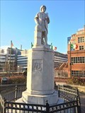 """Image for """"Baltimore Protesters Toppled a Christopher Columbus Statue and Threw it in a Harbor"""" - Baltimore, MD"""
