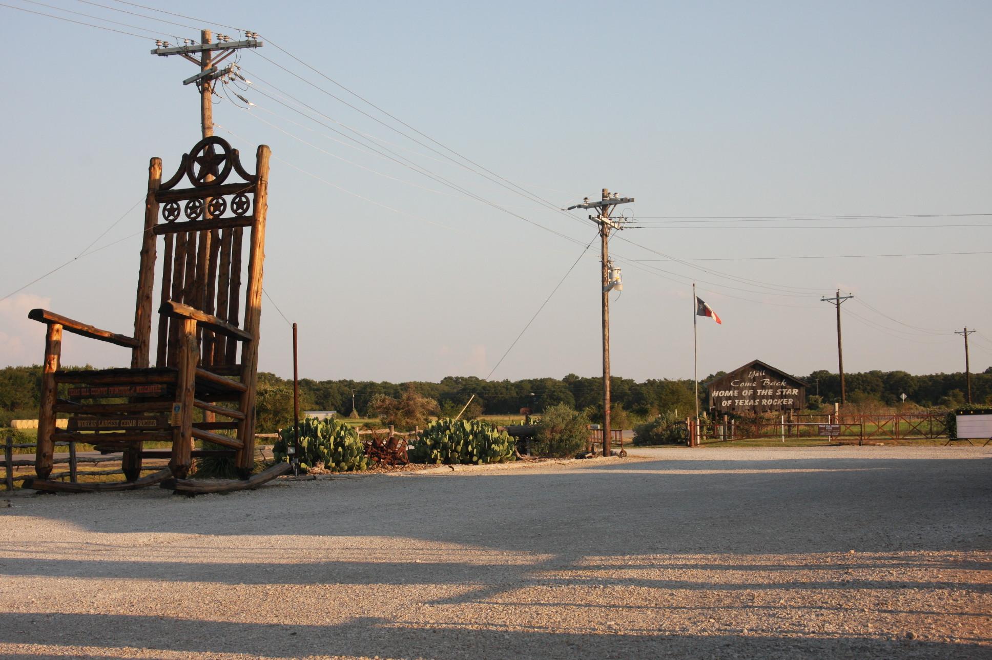 Superb Worlds Largest Cedar Rocking Chair Star Of Texas Rocker Image Frankydiablos Diy Chair Ideas Frankydiabloscom